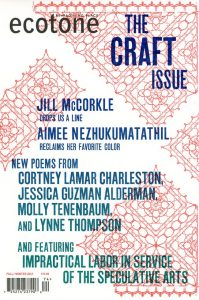 "Cover of Ecotone ""The Craft Issue"""